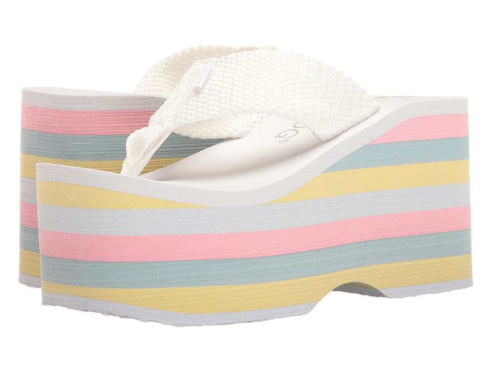Rocket Dog - Bigtop (White/Pastel Multi Eva Webbing) Women's Sandals