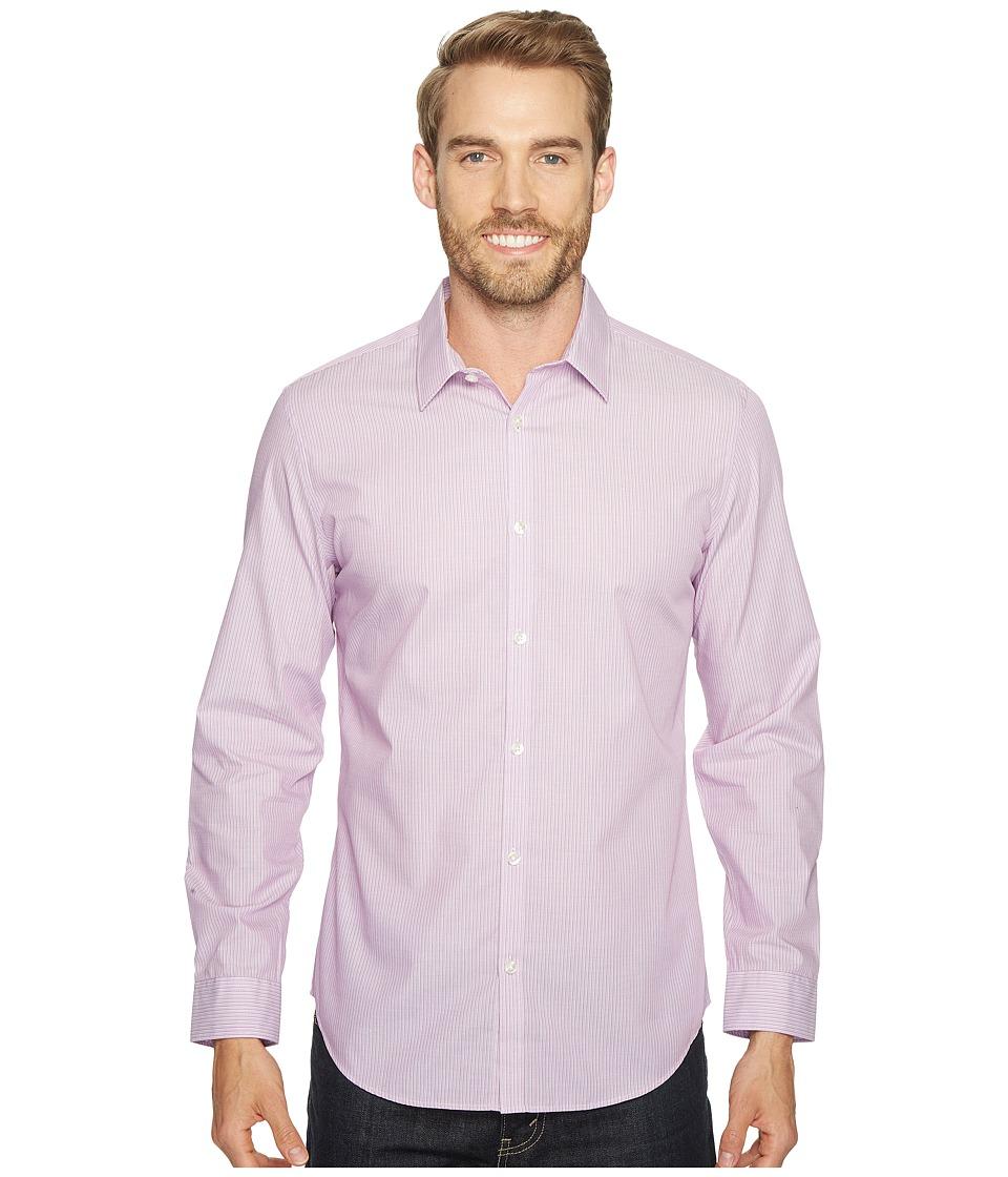 Calvin Klein - Infinite Cool Stripe Button Down (Purple Topaz) Men's Long Sleeve Button Up