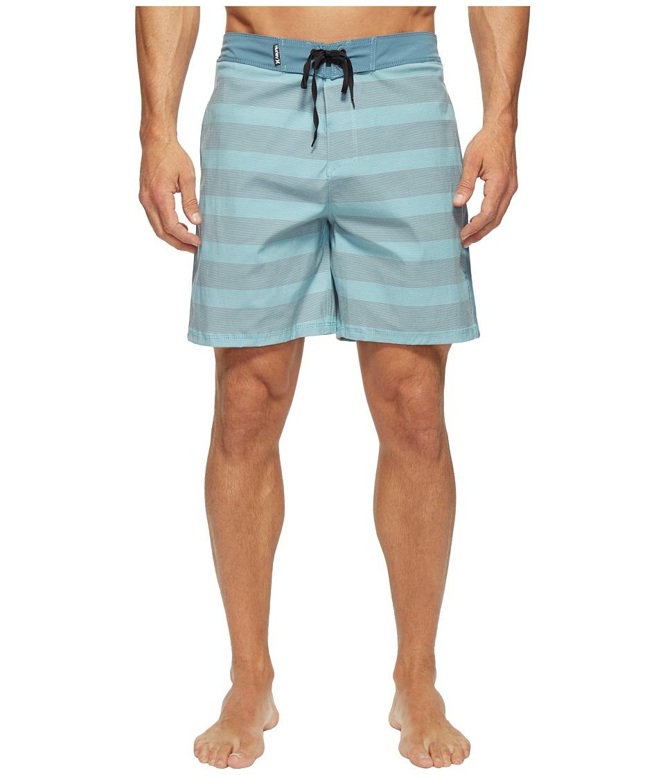 Hurley - Beachside Windsor 18 Boardshorts (Smokey Blue) Men's Swimwear