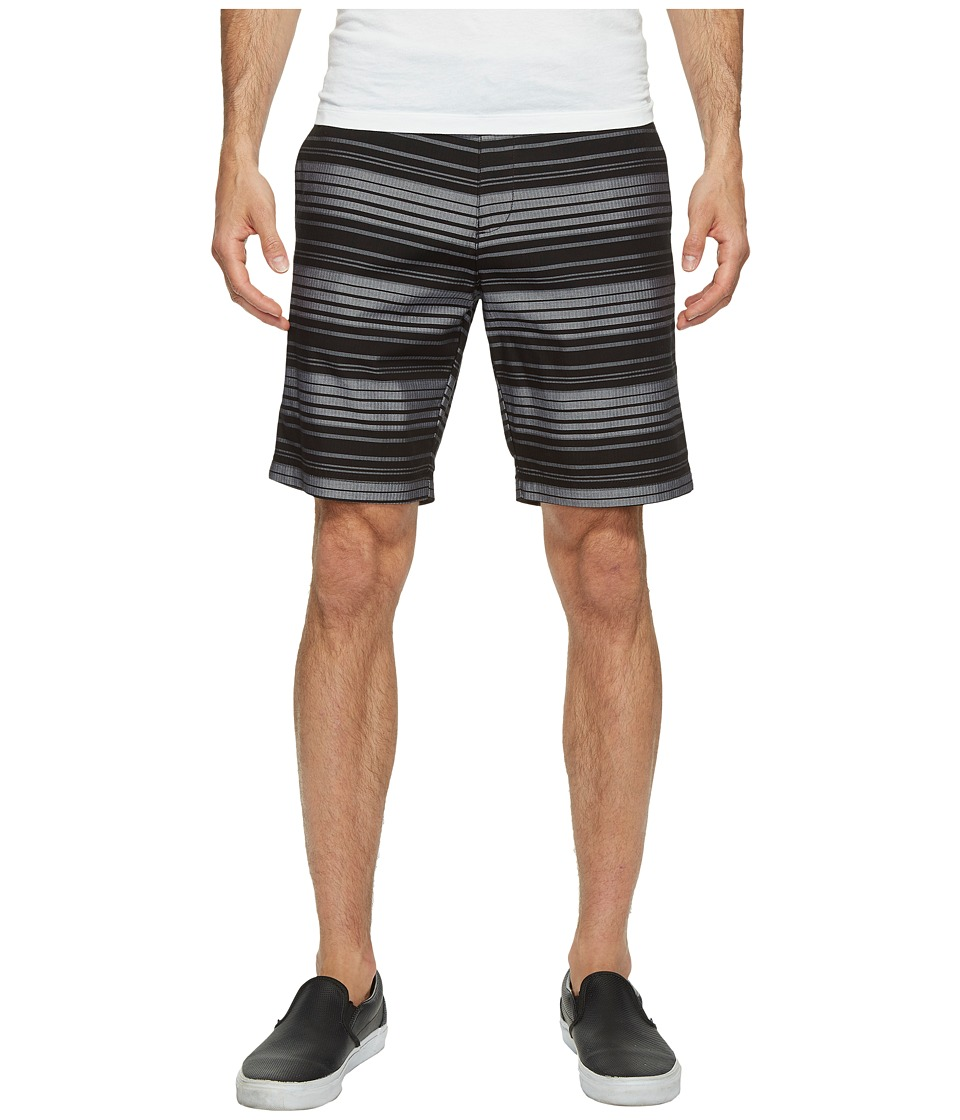 Calvin Klein - 9 Herringbone Horizontal Stripe Shorts (Black) Men's Shorts