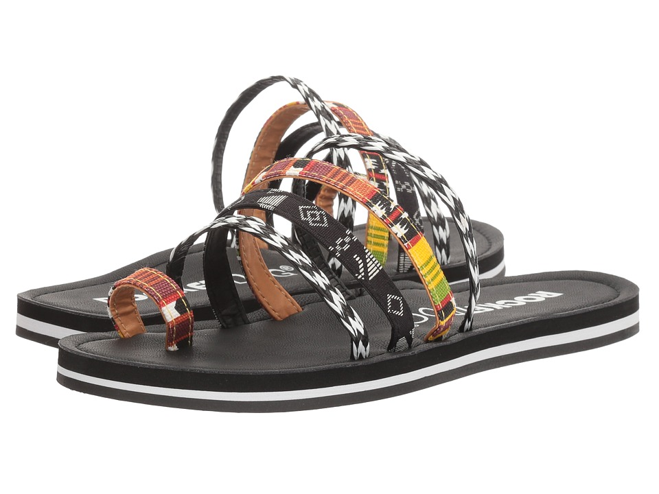 Rocket Dog - Puerto (Black/Orange Multi Mali/Sonora/Milan) Women's Sandals