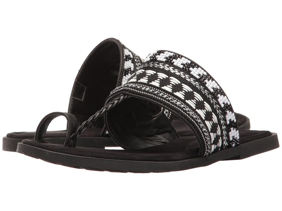 Rocket Dog - Adela (Black Smooth PU/Flare) Women's Sandals