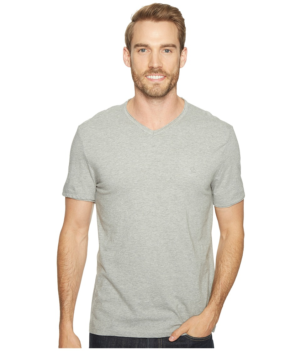 Calvin Klein Jeans - Mixed Media V-Neck Tee (Med Charcoal Heather) Men's T Shirt