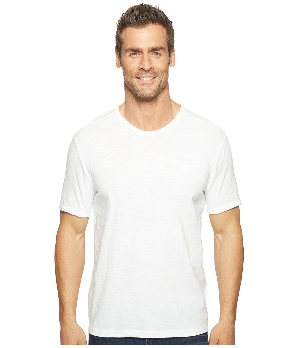 Calvin Klein Jeans - Mixed Media V-Neck Tee (White Wash) Men's T Shirt