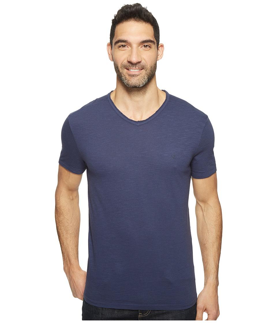 Calvin Klein Jeans - Mixed Media V-Neck Tee (Classic Navy) Men's T Shirt