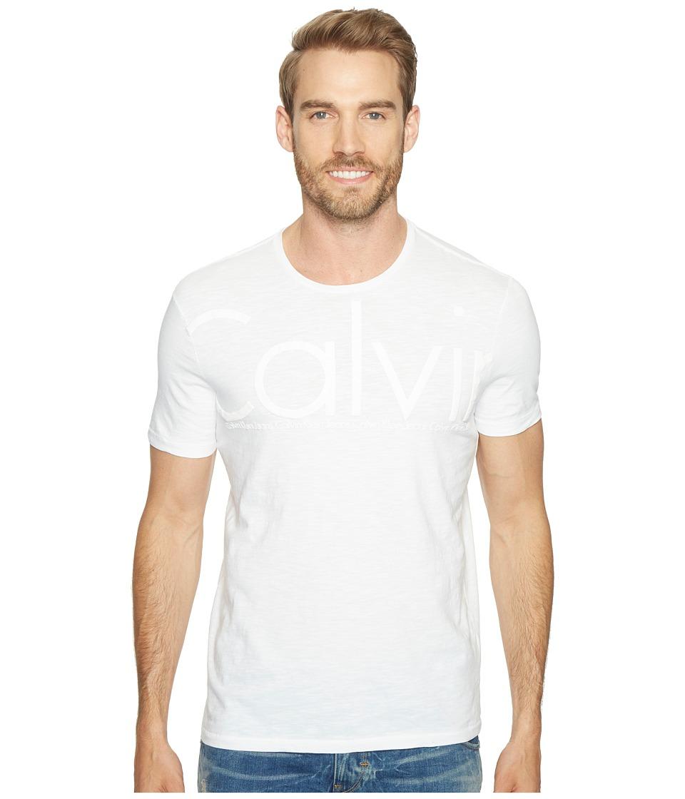 Calvin Klein Jeans - Oversized Calvin Logo Tee (White Wash) Men's T Shirt