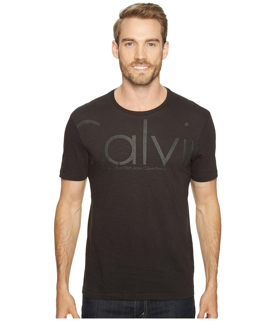 Calvin Klein Jeans - Oversized Calvin Logo Tee (Black) Men's T Shirt