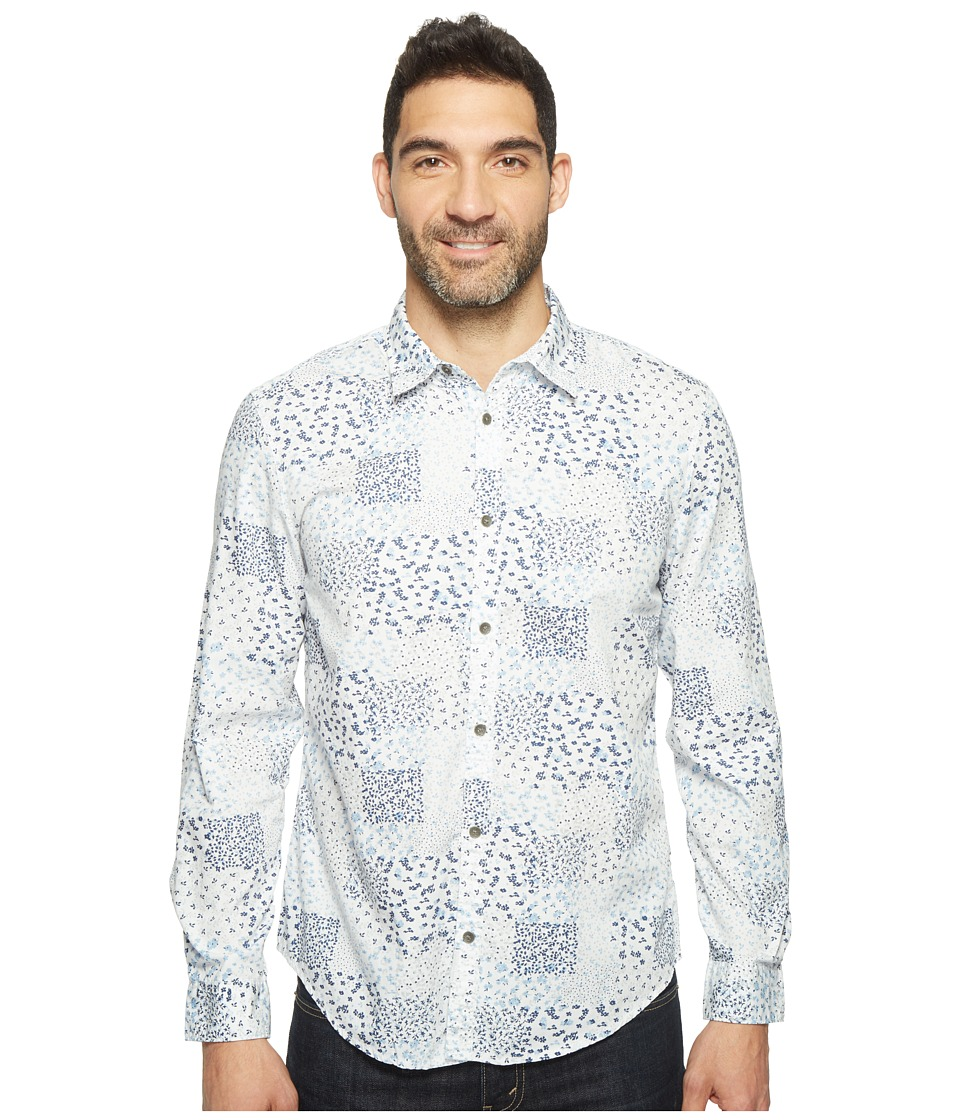 Calvin Klein Jeans - Spring Botanical Print Button Down (White.) Men's Long Sleeve Button Up