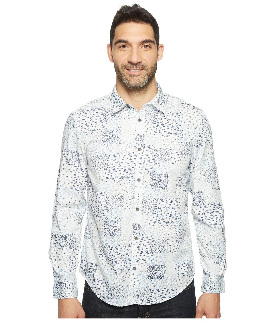 Calvin Klein Jeans - Spring Botanical Print Button Down (White.) Men's Long Sleeve Button Up