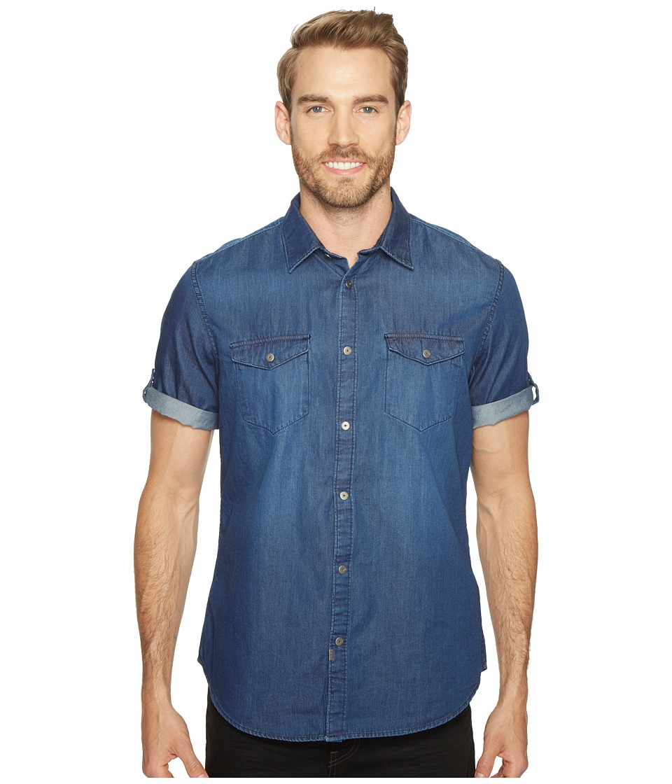 Calvin Klein Jeans - Short Sleeve Denim Shirt (Worn Indigo) Men's Short Sleeve Button Up