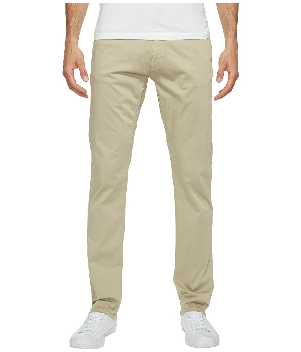 Calvin Klein Jeans - Slim Straight Stretch Sateen Pants (Quinoa) Men's Casual Pants