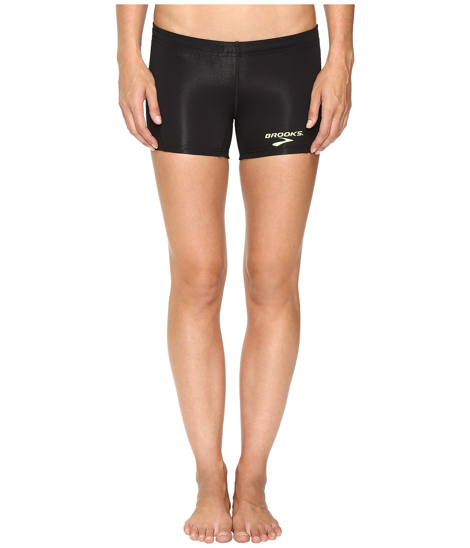 Brooks - Elite Boy Short Tights (Black) Women's Clothing