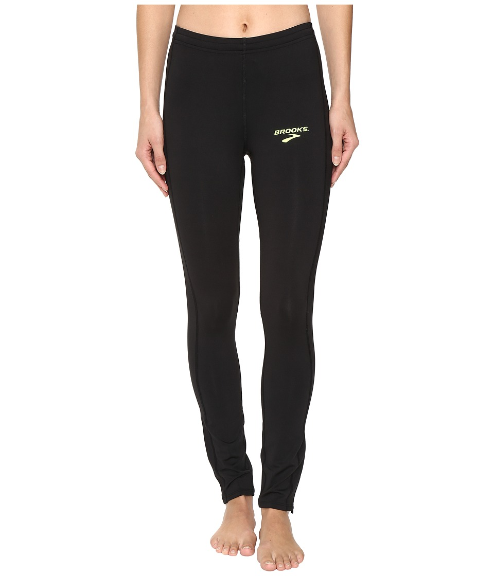 Brooks - Elite Tights (Black) Women's Clothing