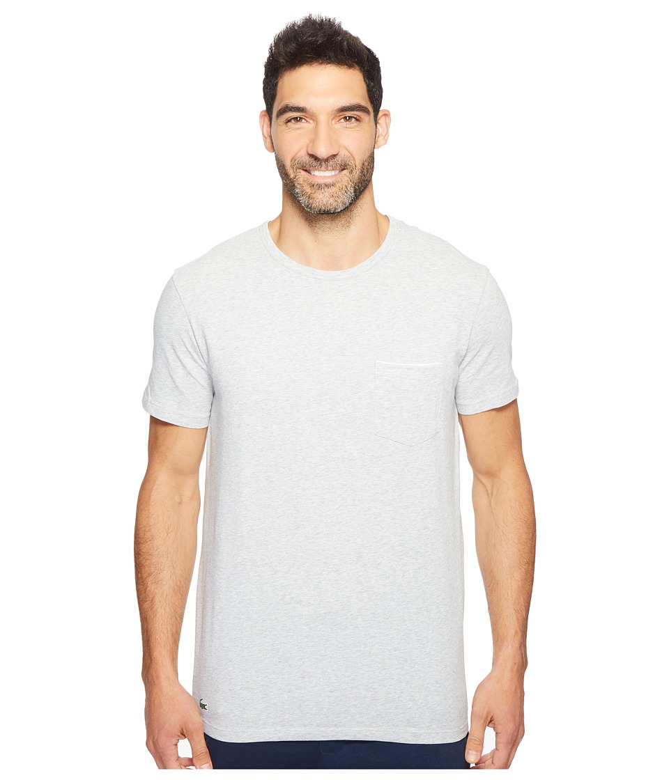 Lacoste - Colours Short Sleeve Pocket Sleep Tee (Grey) Men's Pajama