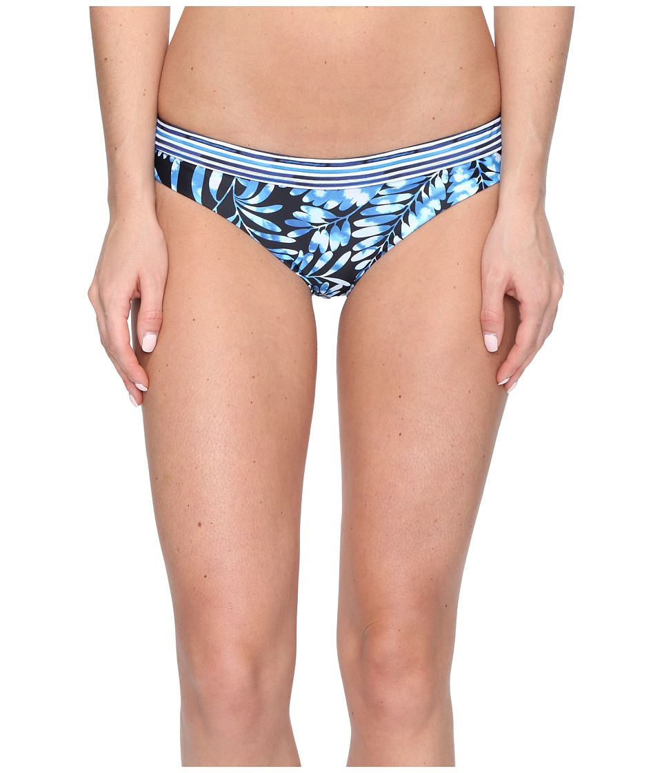 Nicole Miller La Plage by Nicole Miller Chrissy Bikini Bottom Indigo Branches-Stripe Combo Womens Swimwear