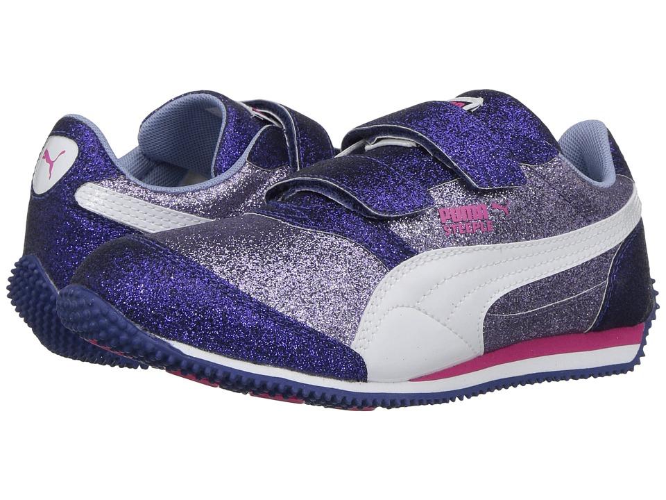 Puma Kids Steeple Glitz Glam V PS (Little Kid/Big Kid) (Lavender Lustre/Puma White) Girls Shoes