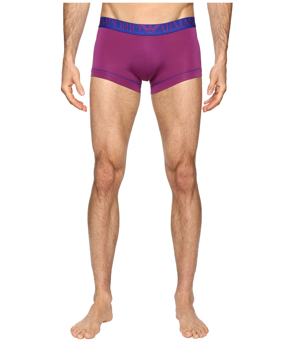 Emporio Armani - Fluo Piping Microfiber Trunk (Plum Violet) Men's Underwear