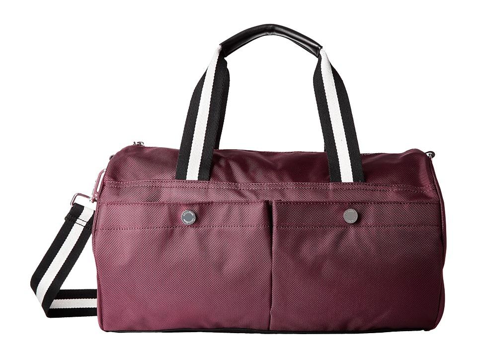 Calvin Klein - Athleisure Dressy Nylon Satchel (Ruby Red) Satchel Handbags