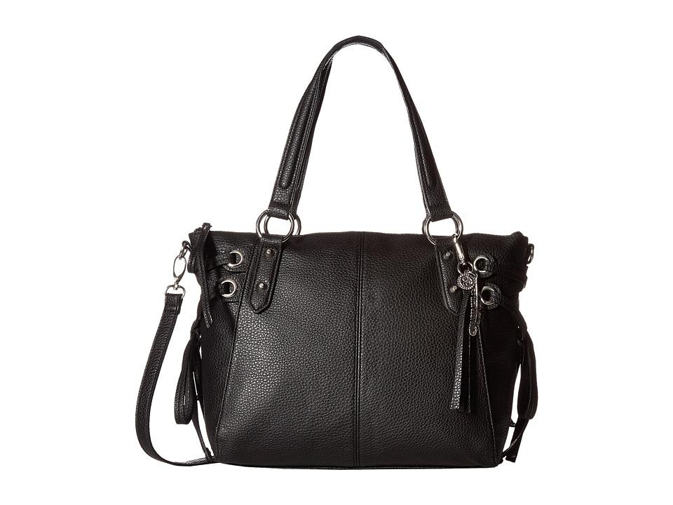 Jessica Simpson - Juliette Crossbody Satchel (Black) Satchel Handbags