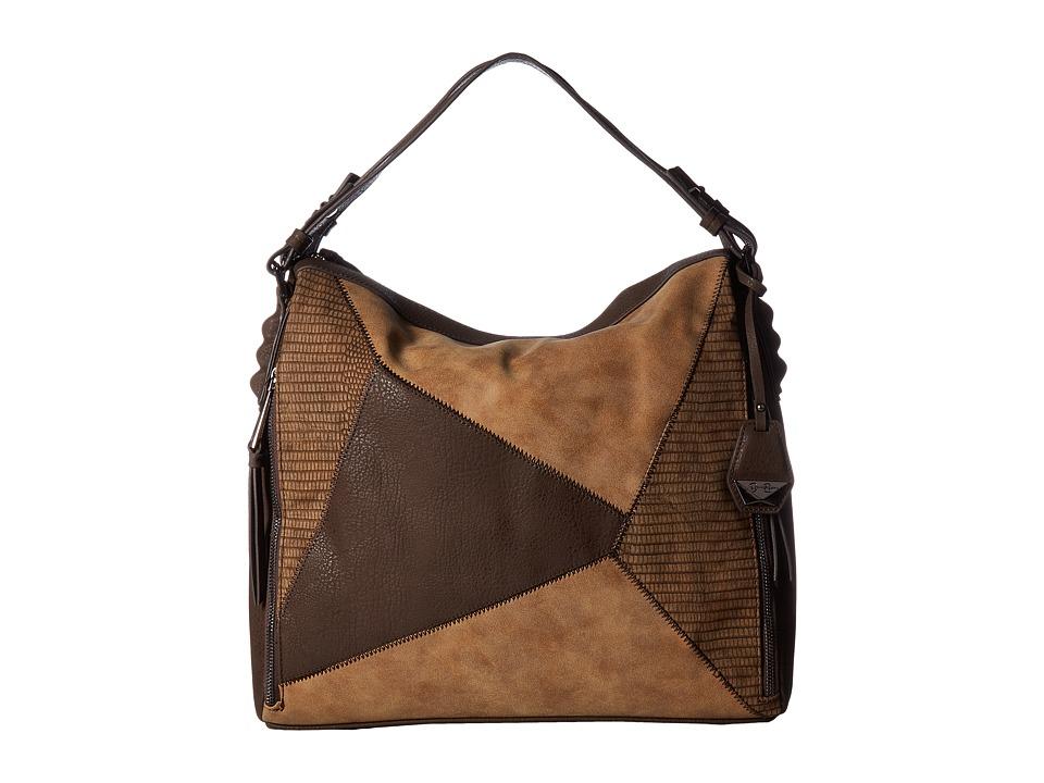 Jessica Simpson - Pamela Shopper (Chocolate/Acorn/Henna) Handbags