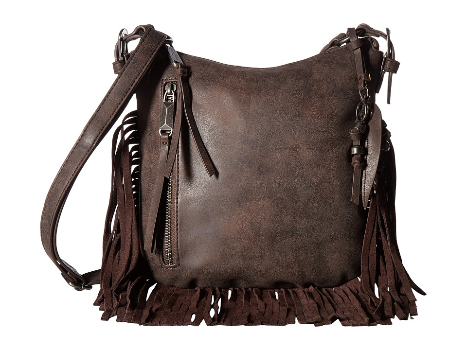 Jessica Simpson - Delilah Top Zip Crossbody (Chocolate) Cross Body Handbags