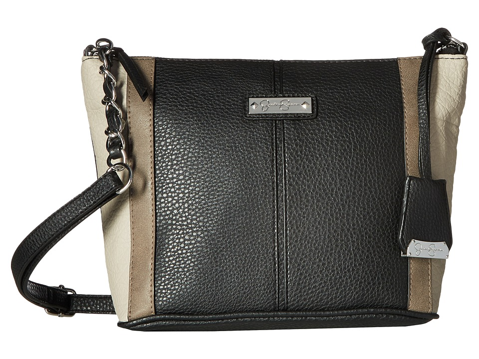 Jessica Simpson - Eliza Crossbody (Black/Cloud Grey/Truffle) Cross Body Handbags