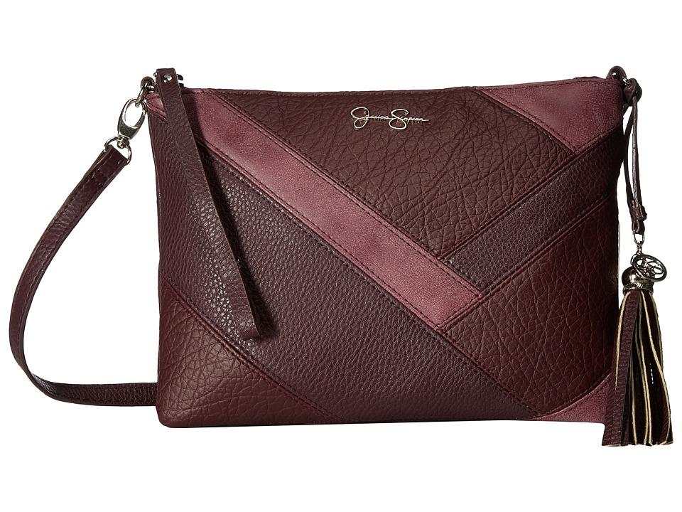 Jessica Simpson - Helena Crossbody Clutch (Raisin) Clutch Handbags