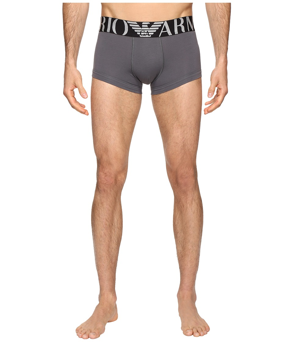 Emporio Armani - Big Logo Band Trunk (Anthracite Grey) Men's Underwear