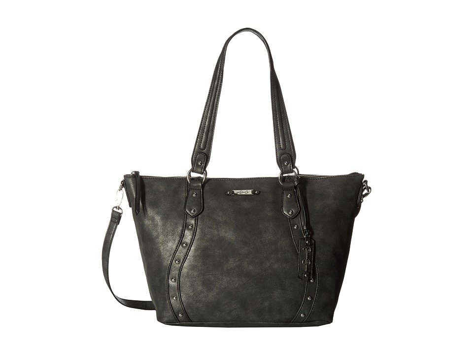Jessica Simpson - Marlowe Satchel (Distressed Suede Black) Satchel Handbags