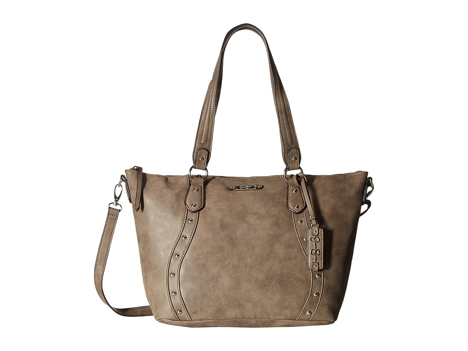 Jessica Simpson - Marlowe Satchel (Distressed Suede Truffle) Satchel Handbags