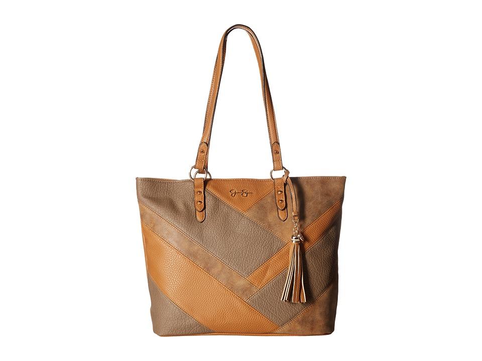 Jessica Simpson - Helena Tote (Cognac/Truffle/Acorn) Tote Handbags
