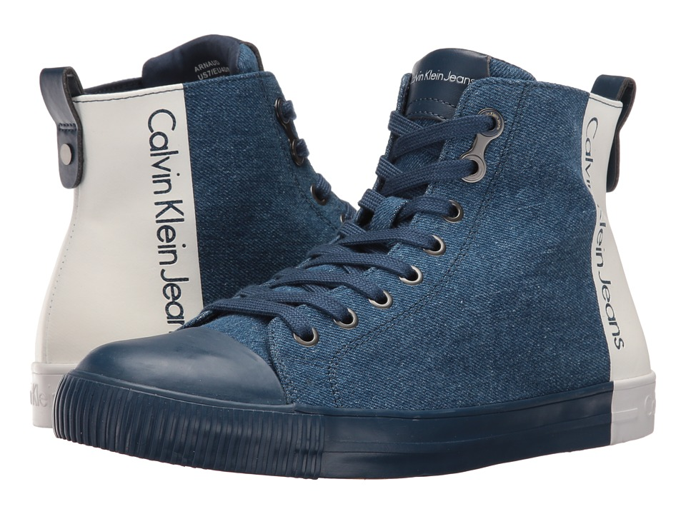 Calvin Klein Jeans - Arnaud (Blue/Off-White) Men's Shoes
