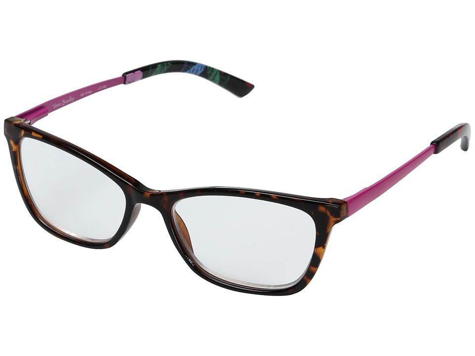 Vera Bradley - Finley (Havana Rose) Reading Glasses Sunglasses