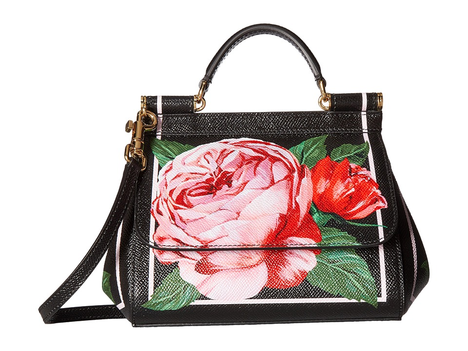 Dolce & Gabbana - St. Dauphine Miss Sicily Mini Bag (Black/Pink) Satchel Handbags