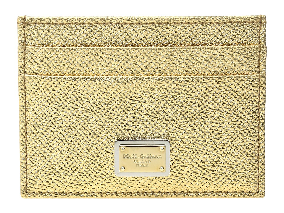 Dolce & Gabbana - Metallic Leather Cardholder (Rose Gold) Credit card Wallet