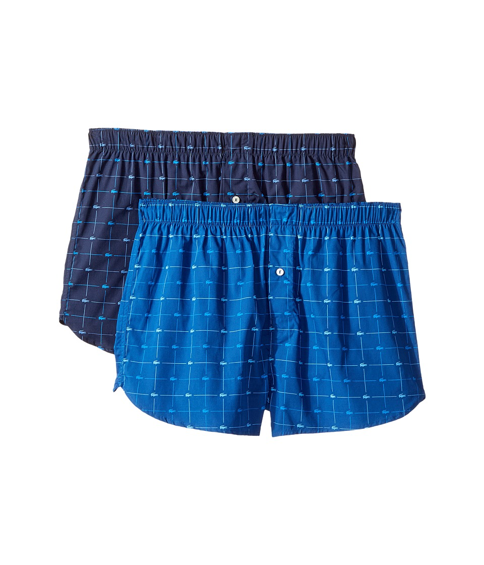 Lacoste - Authentics 2-Pack Signature Print Woven Boxers (Assorted 2) Men's Underwear