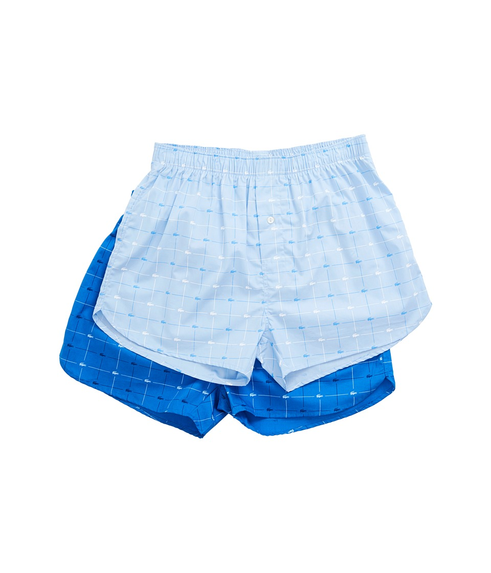 Lacoste - Authentics 2-Pack Signature Print Woven Boxers (Assorted) Men's Underwear