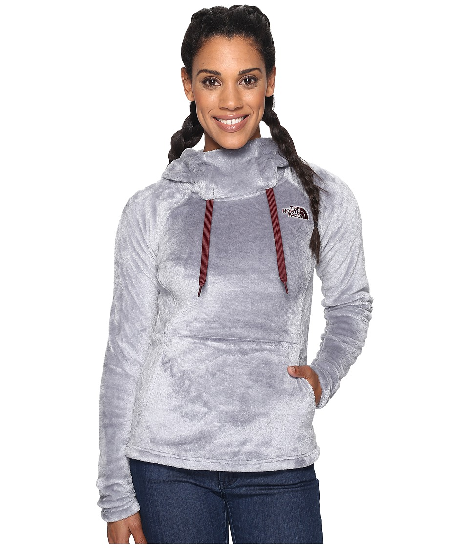 The North Face - Bellarine Hoodie (Mid Grey/Deep Garnet Red (Prior Season)) Women's Sweatshirt