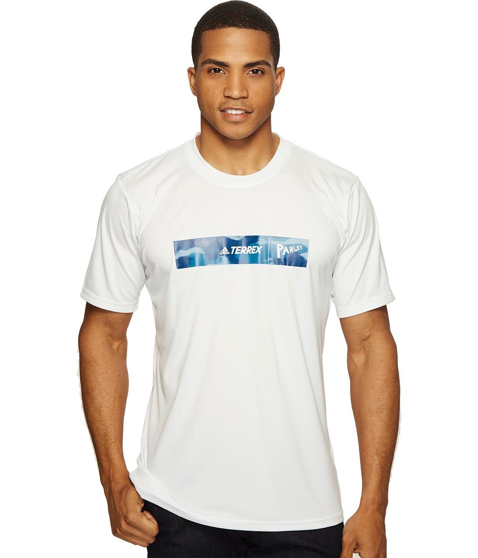 adidas Outdoor - Parley Logo Tee (White) Men's T Shirt