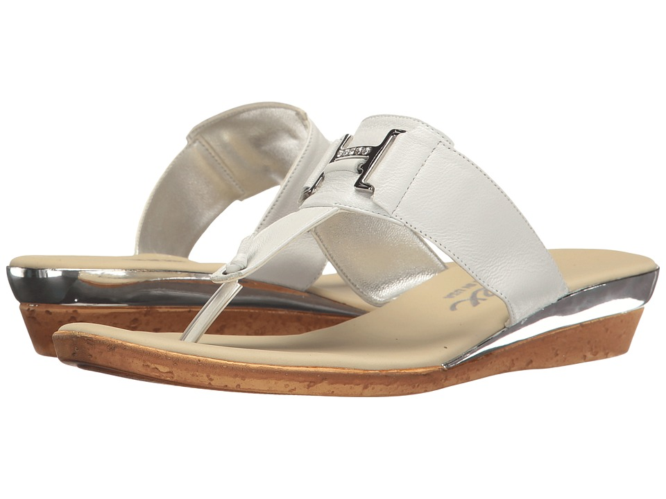 Onex - Harriet (White/Silver) Women's Sandals