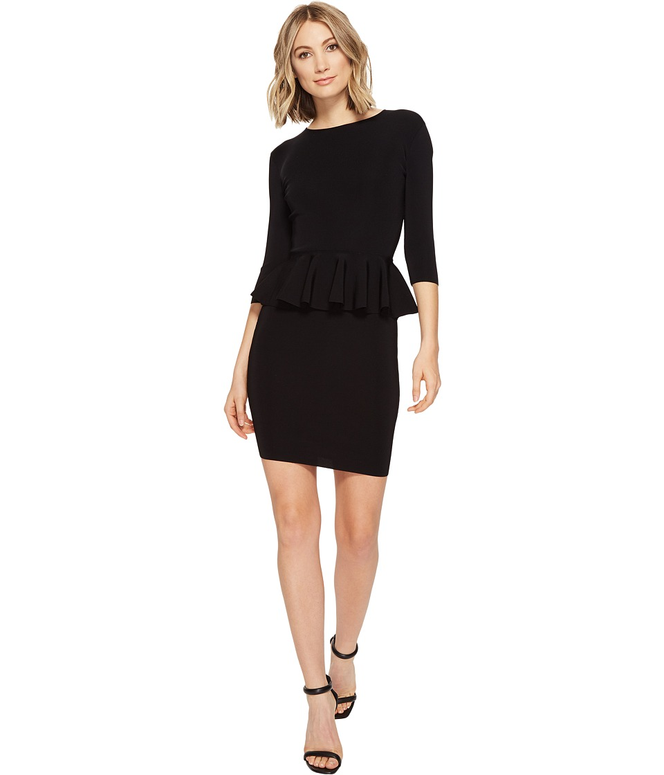 Ted Baker - Jamnie Peplum Knitted Dress (Black) Women's Dress