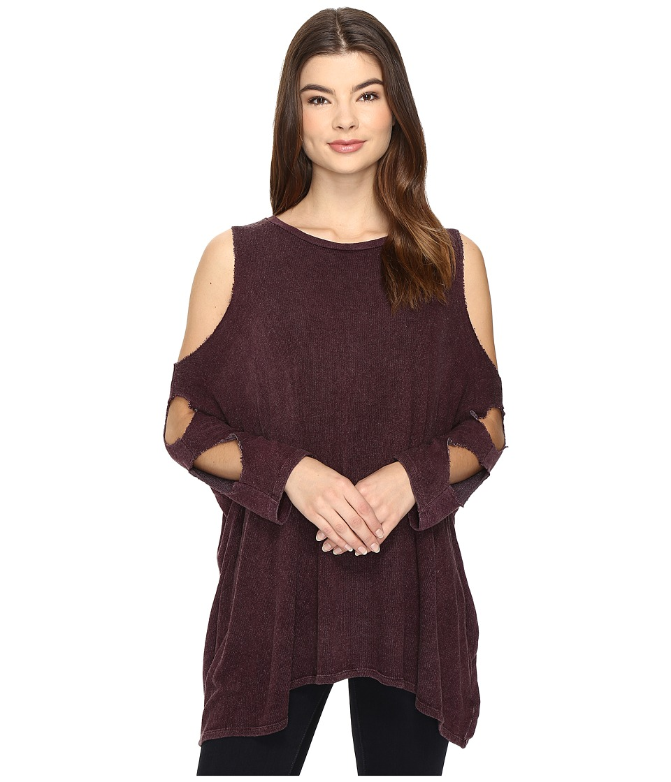 Culture Phit - Lynda Cut Out Top (Burgundy) Women's Clothing