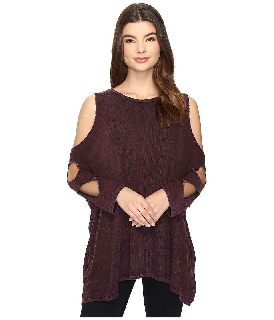 Culture Phit - Lynda Cut Out Top (Burgundy) Women's Clothing