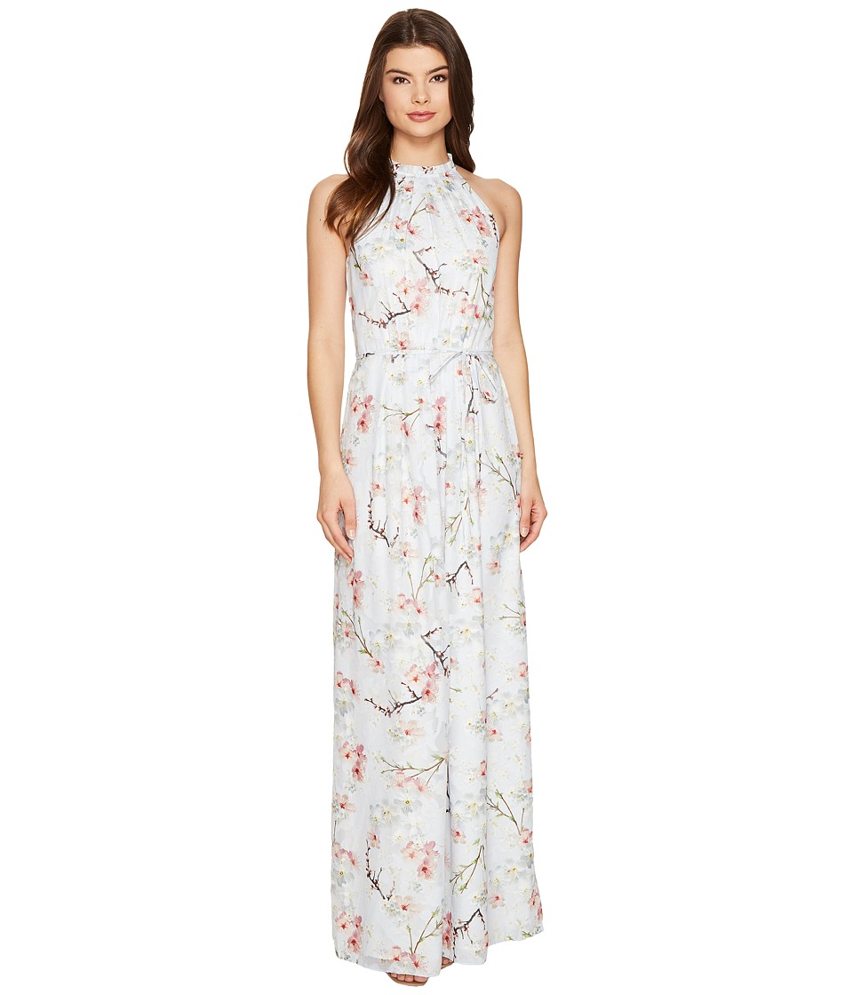 Ted Baker - Elynor Oriental Blossom Maxi Dress (Light Grey) Women's Dress