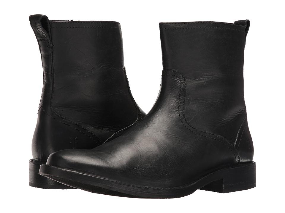 Frye - Oliver Inside Zip (Black) Cowboy Boots
