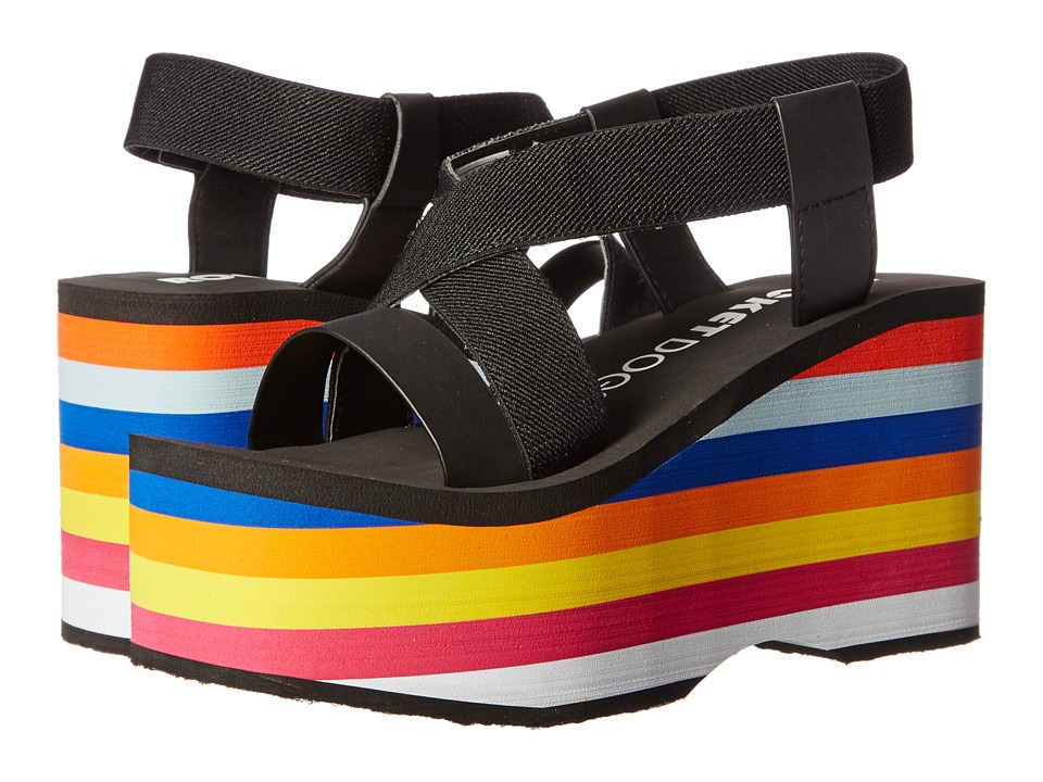 Rocket Dog - Bayer (Black/Rainbow Multi Eva Gore/Smooth PU) Women's Sandals