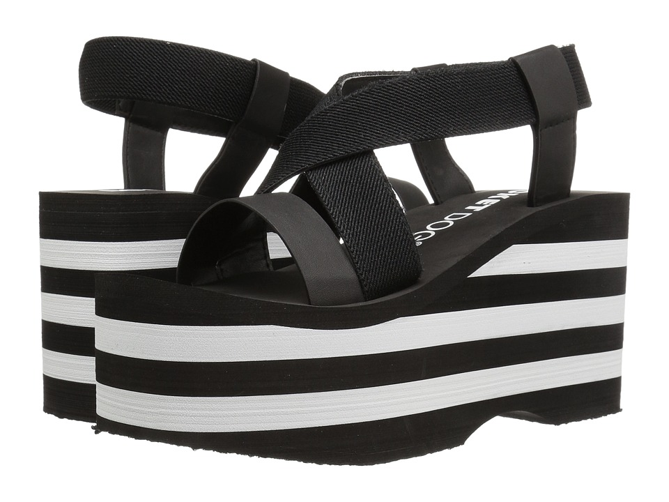 Rocket Dog - Bayer (Black/Black/White Eva Gore/Smooth PU) Women's Sandals