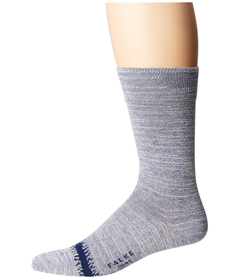 Falke - Blue Denim Sock (Ocean) Men's Crew Cut Socks Shoes