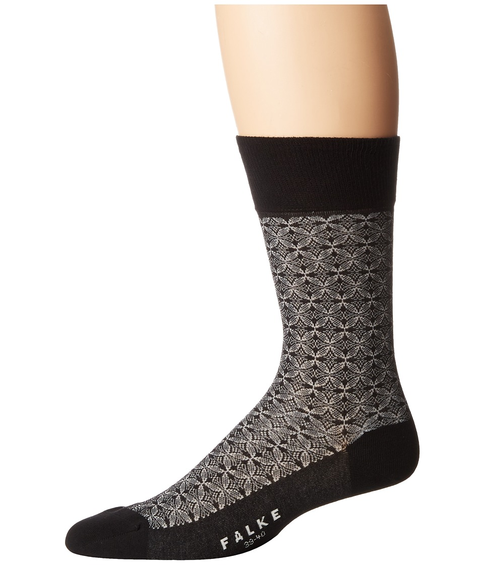 Falke - Mehndi Sock (Black) Men's Crew Cut Socks Shoes