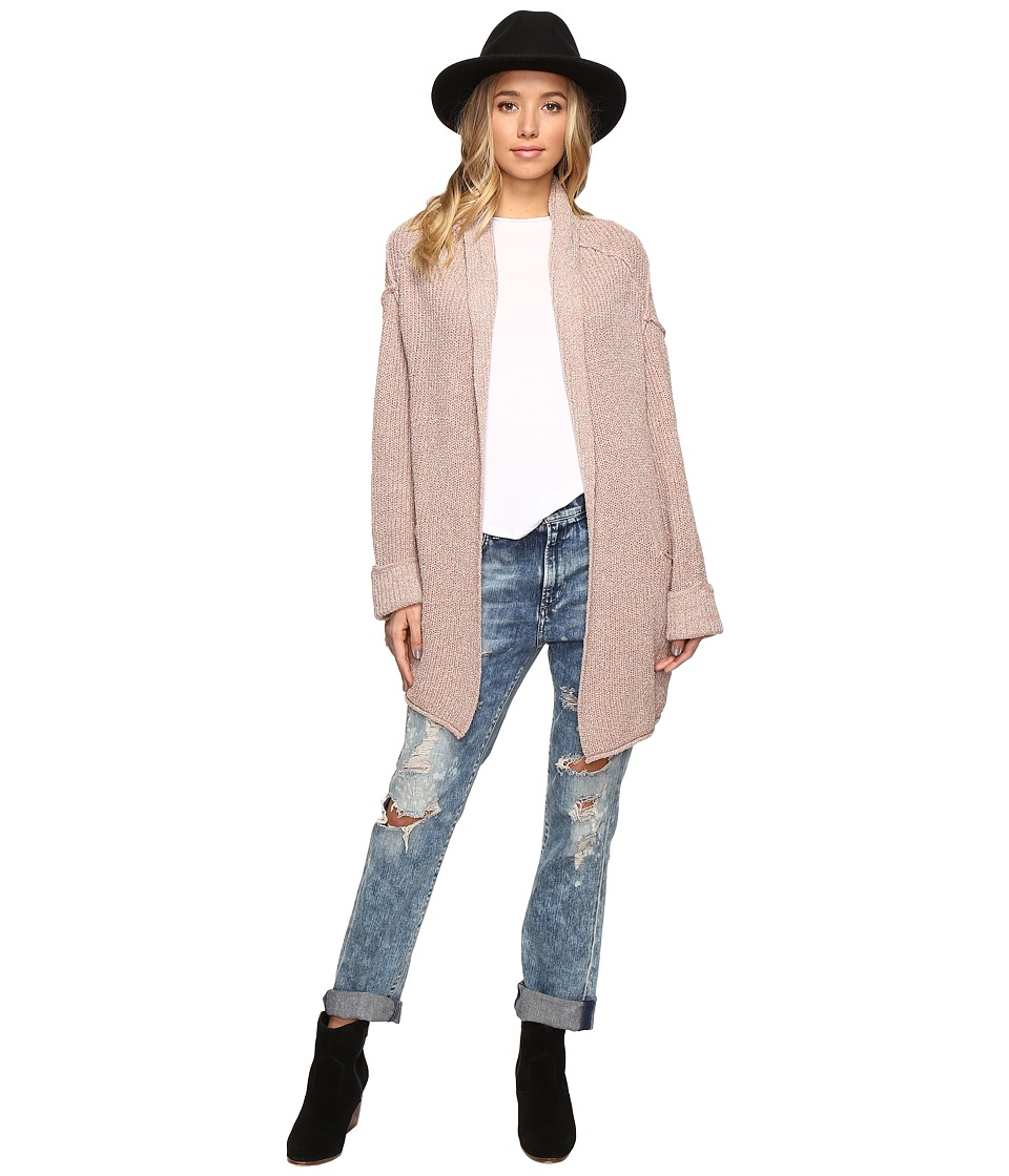 Free People - Low Tide Cardigan Sweater (Rose) Women's Sweater